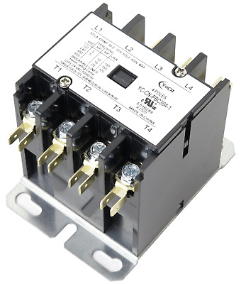 Cn-Pbc304-24V Definite Purpose Contactor 30Amp 4Pole 24V Coil 30 Fla 40 Res