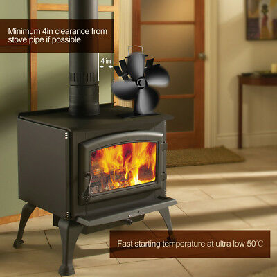 stromloser kaminofen ventilator stove fan 4s ofen gebl se f r ofen holzofen eur 52 59. Black Bedroom Furniture Sets. Home Design Ideas