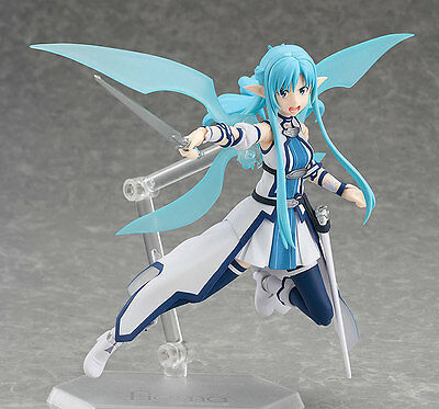 Anime Sword Art Online II SAO Asuna ALO Figma 264 Action Figure Toy Doll Model