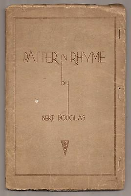 PATTER IN RHYME by Bert Douglas - Signed