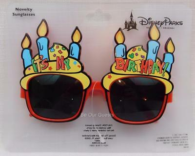 Disney Theme Parks Authentic Happy Birthday Novelty Sunglasses Glasses New