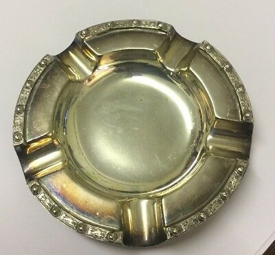 Good Vintage Mappin & Webb Silver Plated Ash Tray. Quality Design. VGC. 1940s