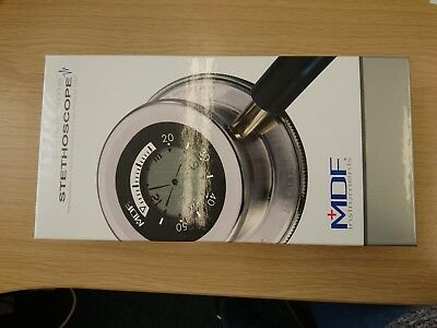 Stethoscope Black Pulse Time 2-in-1 Digital LCD Clock and Single Head +MDF 740