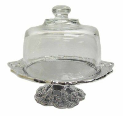 Arthur Court Fleur De Lis Footed Plate with Glass Dome, 8-Inch [Kitchen]