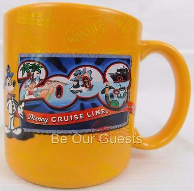 Disney Cruise Line 2008 Coffee Mug Cup Yellow New