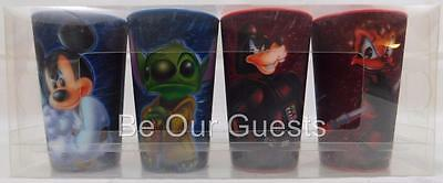 Disney Parks Star Wars Lenticular Hologram Kids Drinking Cup Cups Set of 4 New