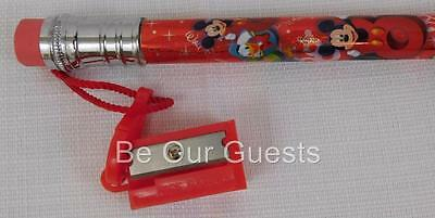 Disney Parks Large Giant Pencil With Sharpener 2008 Logo New
