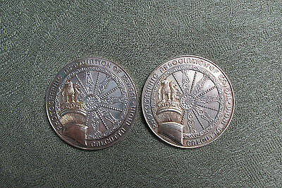 Two Photographic Association of Bengal Medallions -- 1970's -- Indian Interest