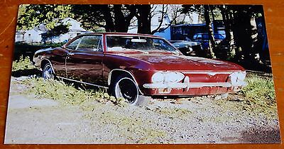 Photo Vintage Corvair Monza Coupe In Upstate Ny - 1965 1966 1967 1968 1969 Chevy
