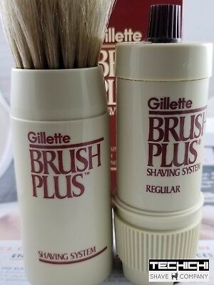 Gillette Brush Plus Vintage Shaving Item