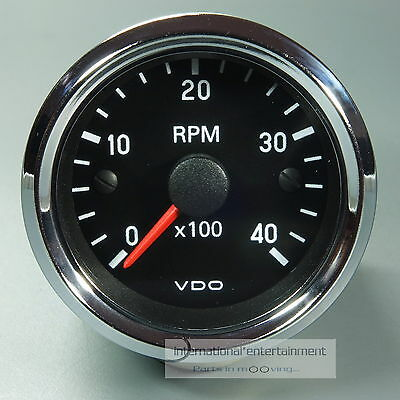 VDO DREHZAHLMESSER TACHOMETER *CHROME EDITION*  52mm INSTRUMENT  4000 UPM 12V