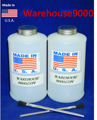 2 ~ Applicator Brushes With 2 Empty White Quart Bottles ~ Craft ~ Paint ~ Home