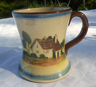 Torquay Ware WATCOMBE POTTERY MUG KIND WORDS ARE WORTH MUCH AND COST LITTLE.