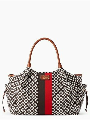 New KATE SPADE Classic Spade Stevie Baby Bag Chocolate MSRP $398 NWT
