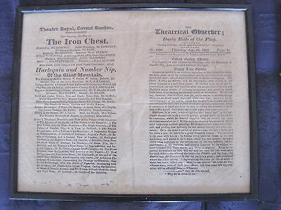 1828 Theatrical Observer. Covent Garden, Drury Lane reviews.