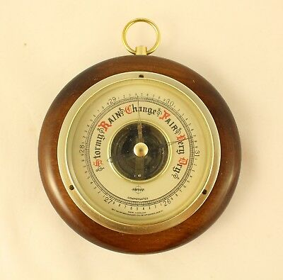 Swift Compensated Weather Barometer Wall Model Made in England Nice Wood Brass