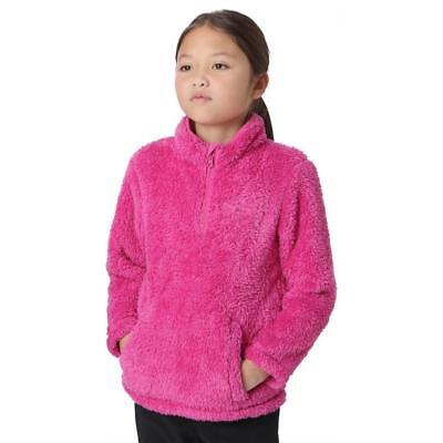 Peter Storm Girls' Teddy Half Zip Fleece Outdoor Clothing Pink