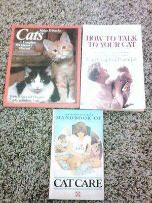 3 Cat SC Books -  How to Talk to Your Cat - Purina Cat Care - Cat Owner Manual
