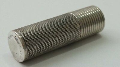 E429 Superb Sterling German Cylindrical Trinket Signed Pierre 1 3/8th ""