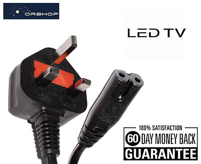 Samsung Sony LG Philips LED TV Power Cable Mains Lead Figure 8 IEC C7 6ft 1.8M