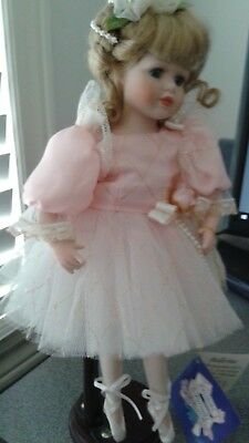 "Limited Edition Rare 13"" Porcelain Doll Pink Ballerina Avonlea Traditions Canada"