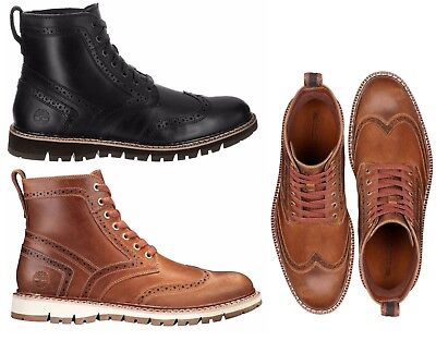 83c4626dc1e NEW TIMBERLAND MEN Shoes Britton Hill Brogue Wingtip Boots Leather