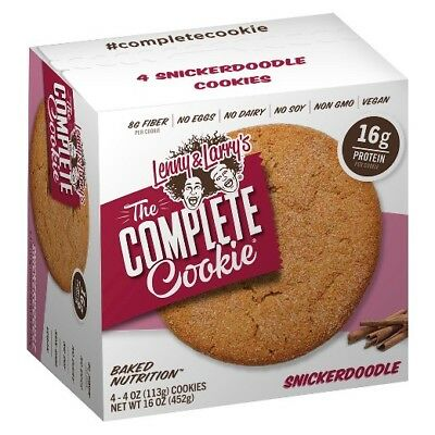 New Lenny Larrys The Complete Cookie Snickerdoodle 4 Cookies 16 Oz Box