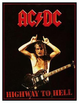 AC/DC  *LARGE POSTER*  HIGHWAY TO HELL -  RARE Bon Scott Angus Young  VERY EARLY