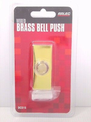 ARLEC Wired Brass Door Chime Bell Push Replacement Switch DCS15