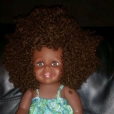 16 Inch Ethnic black doll with Afro Hair