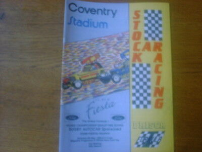 Coventry 6 May 1989 F1 Stock car programme .motor sport .