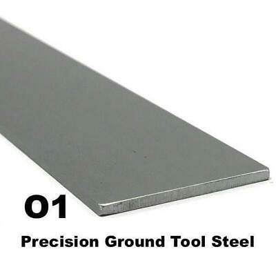 "O1 Precision Ground Tool Steel Flat Bar 1/8"" x 1"" x 9"" Knife Making Blade Steel"