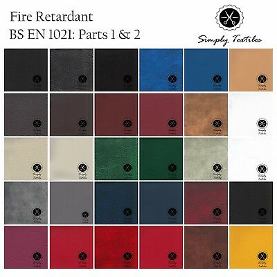 Heavy Duty Faux Leather Leatherette Vinyl PVC Fire Resistant Material Upholstery