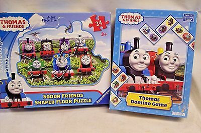 Thomas & Friends Domino Game + Sodor Friends Shaped Floor Puzzle