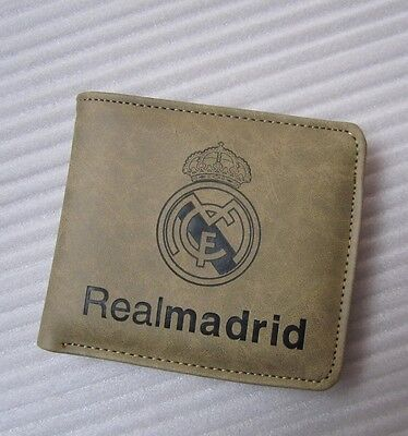 new Real Madrid soccer fans pu leather wallet  Holder bifold Purse