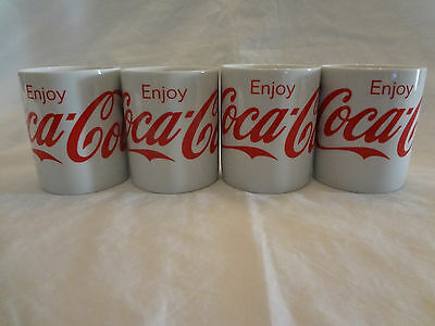 Set of 4 Enjoy Coca Cola Gibson Everyday  Red Script Mugs