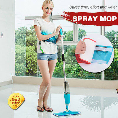 700Ml Spray Mop Water Spraying Floor Cleaner Tiles Microfibre Pad Marble Kitchen