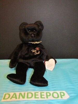 TY Retired Beanie Baby The End Bear 1999 With Tags Ty