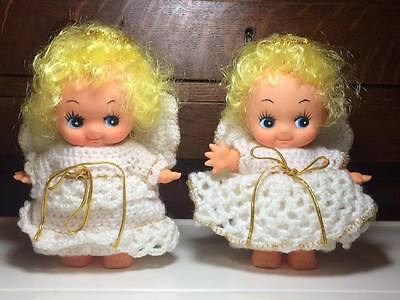 Vintage Kewpie Dolls with hand made angel outfits