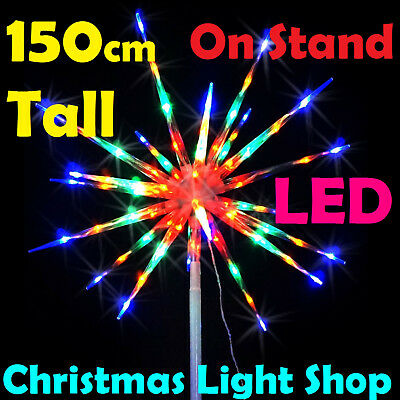 LED Meteor w Stand MULTICOLOUR Star Exploding FireWorks Outdoor Christmas Lights