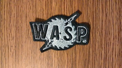 Wasp,sew On Grey Embroidered Patch