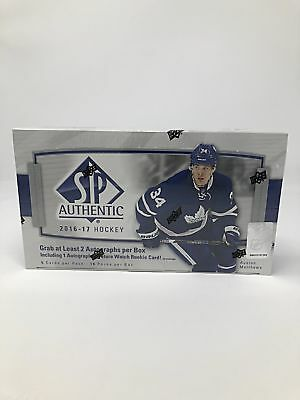 2016-17 Upper Deck SP Authentic Factory Sealed Hockey Hobby Box w/ Overtime Pack