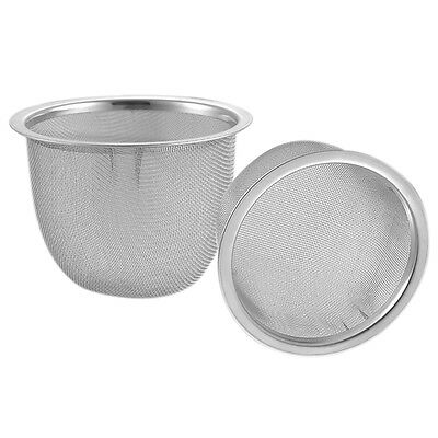 2 PCS Stainless Steel Drainer Mesh Tea Strainer Teapot Filter Silver Tone 2017 #