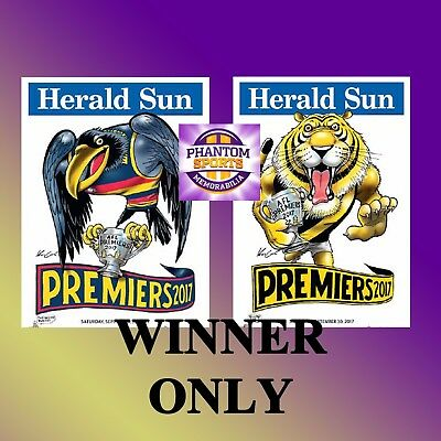 2017 Afl Adelaide Or Richmond Grand Final Premiers Premiership Weg Knight Poster