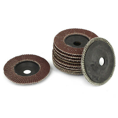 "10 x Flap Discs 115mm Sanding  60 80  Grit Grinding Wheels Discs 4.5"" Mix Gift #"
