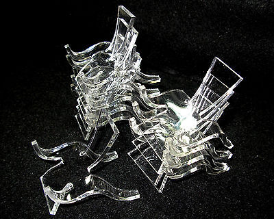 Set of 10 Small, Clear Acrylic Plastic Display Stands               ...