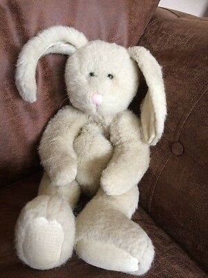 "Vintage*Boyds Collection*Cream Jointed Hand-Made Bunny Rabbit 16"" Soft Toy 85-94"
