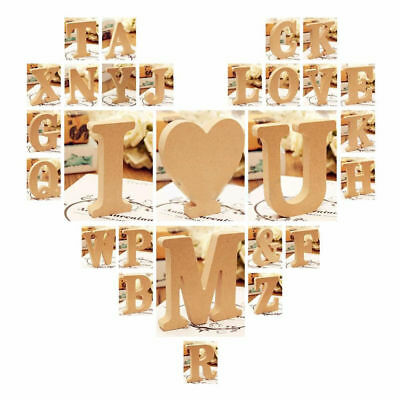 1Pc Large A-Z Wooden Letters Alphabet Wall Hanging Wedding Party Home Decor 15mm