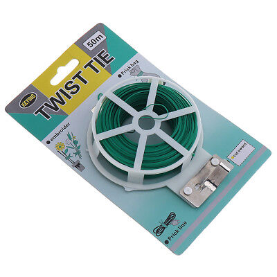 50 Meters PE Plastic Gardening Line Twist Tie embroider Prick bag for Home