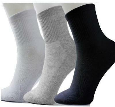 10 Pairs Lot Men Cosy Cotton Sport Socks For Football Basketball 3 Colors KY Hot